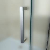 Douchecabine 120x90CM Rechthoekig Vita- Mat Glas. Rechts