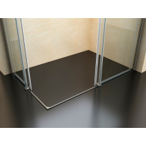 Douchecabine 100x80CM Vierkant Vivo- Helder Glas - Links