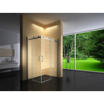 Douchecabine 100x90CM Vierkant Vivo- Helder Glas - Links