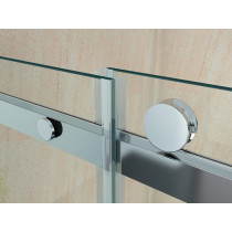 Douchecabine 120x80CM Vierkant Vivo- Helder Glas - Rechts