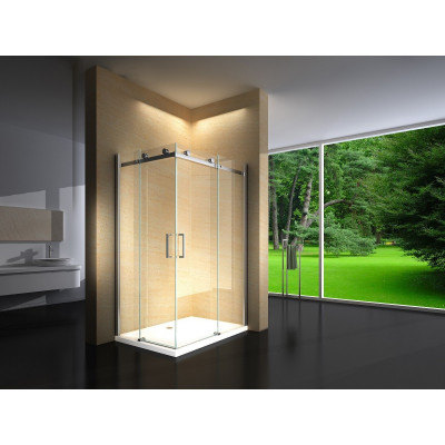 Douchecabine 120X90 Vierkant Vivo LB- Helder Glas - Links