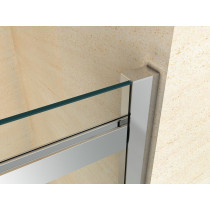 Douchecabine 120x80CM Vierkant Vivo HB- Helder Glas - Rechts