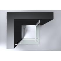 Douchecabine Vierkant 90x90CM Zila. Helder Glas