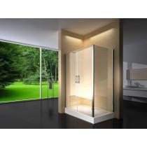 Douchecabine 120x80CM Rechthoekig Argento HB- Helder Glas