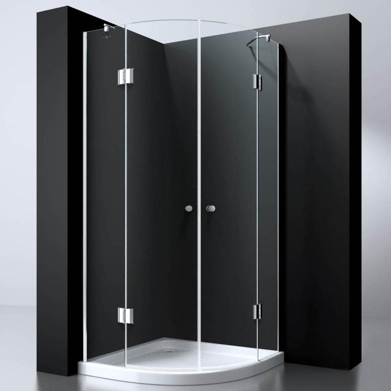 Douchecabine Kwartrond 90x90CM Presto. Helder Glas
