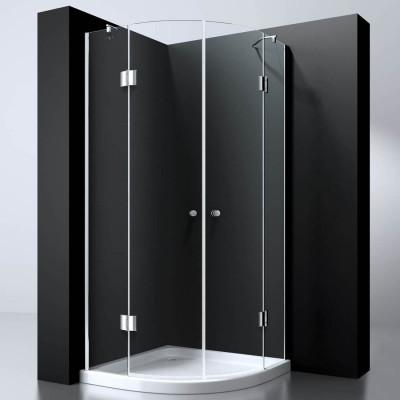 Douchecabine Kwartrond 100X100 Presto. Helder Glas