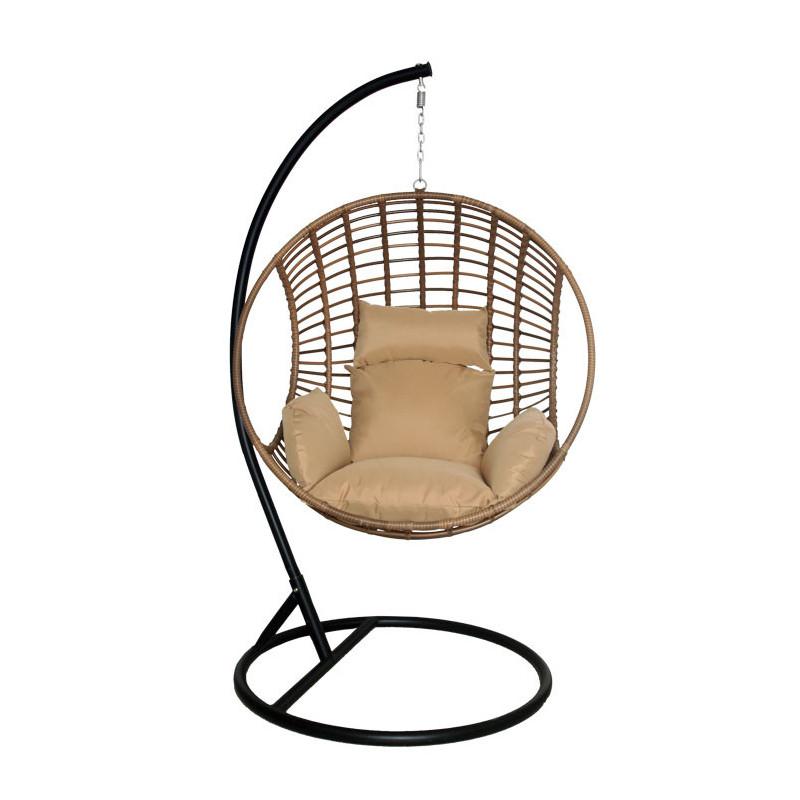Hangstoel Rotan Wit.Hangstoel Wicker Horn Complete Rotan Hangstoel
