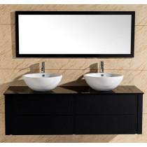 Badkamermeubel Cleopatra Zwart op Zwart 150 CM