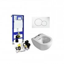Toiletset UP320 Met randloos wandcloset met Bidet