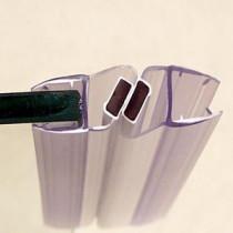 Set Magneetstrips voor 5mm glas 185cm