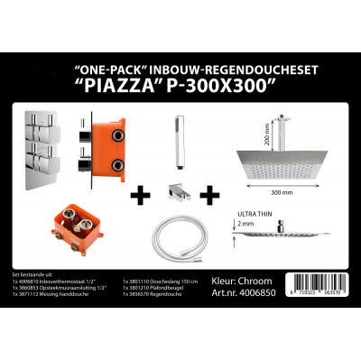 Inbouwkraan Piazza PL 30cm Vierkant