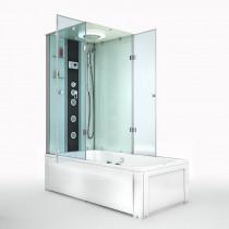 Douche- Bad Whirlpool Combinatie Silvus-R 180x90x222CM