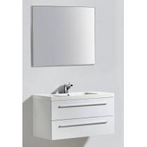 Badkamermeubel Boda Wit  100 CM Aluminium Spiegel