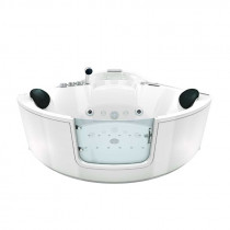 Bad Douche Whirlpool Stoom Combinatie Instapbad Rivera White 140X140X60CM