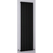 Ovaal Designradiator Enkel Mat Zwart 180x59cm